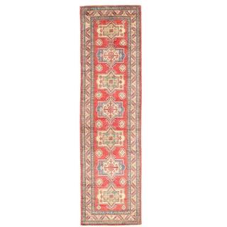 Herat Oriental Afghan Hand-knotted Kazak Wool Runner (2'7 x 9'7)