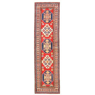 Herat Oriental Afghan Hand-knotted Kazak Wool Runner (2'7 x 9'3)