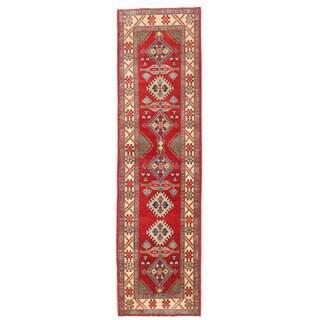 Herat Oriental Afghan Hand-knotted Kazak Wool Runner (2'7 x 9'6)