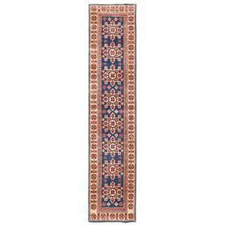 Herat Oriental Afghan Hand-knotted Kazak Wool Runner (1'11 x 9')