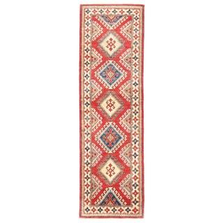 Herat Oriental Afghan Hand-knotted Kazak Wool Runner (2' x 6'10)