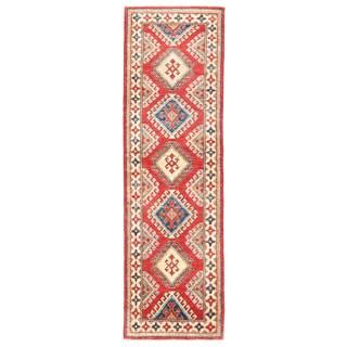 Herat Oriental Afghan Hand-knotted Kazak Wool Runner - 2' x 6'10