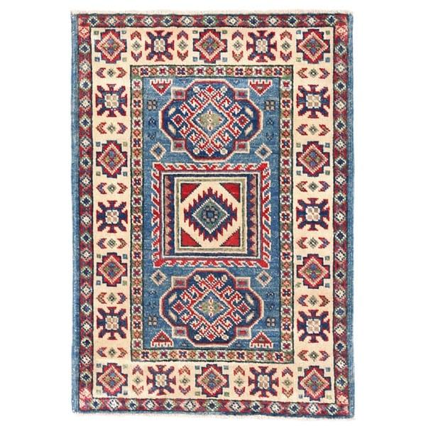 Herat Oriental Afghan Hand-knotted Kazak Wool Rug (2' x 2'11) - 2' x 2'11