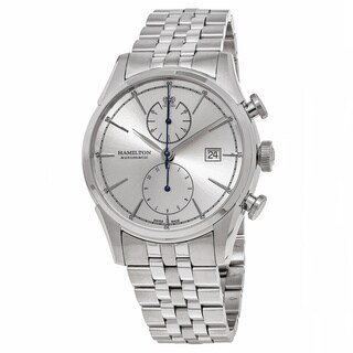 Link to Hamilton Men's H32416981 'American Classic' Silver Dial Stainless Steel Spirit Liberty Chronograph Swiss Automatic Watch Similar Items in Men's Watches