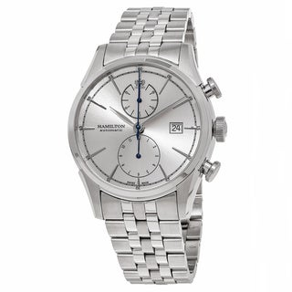 Hamilton Men's H32416981 'American Classic' Silver Dial Stainless Steel Spirit Liberty Chronograph Swiss Automatic Watch