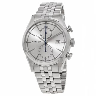 Hamilton Men's H32416981 'American Classic' Silver Dial Stainless Steel Spirit Liberty Chronograph Swiss Automatic Watch|https://ak1.ostkcdn.com/images/products/11977148/P18859302.jpg?impolicy=medium