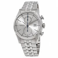 Hamilton Men's  'American Classic' Silver Dial Stainless Steel Spirit Liberty Chronograph Swiss Automatic Watch