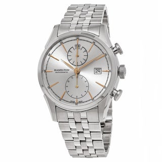 Hamilton Men's H32416181 'American Classic' Silver Dial Stainless Steel Spirit Liberty Chronograph Swiss Automatic Watch
