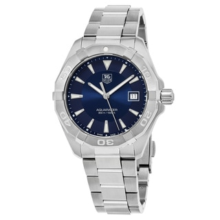 Tag Heuer Men's WAY1112.BA0928 '300 Aquaracer' Blue Dial Stainless Steel Swiss Quartz Watch