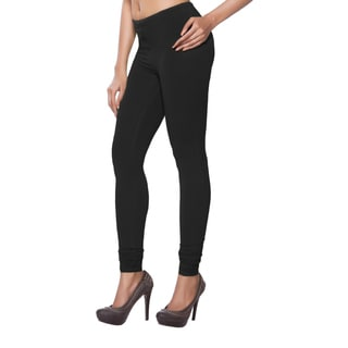 In-Sattva Women's Black Solid Color Leggings (India)