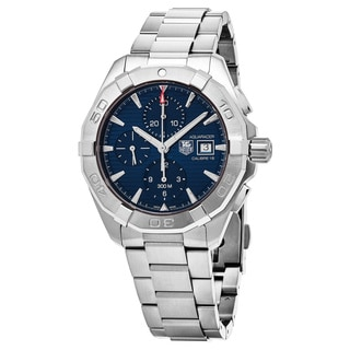 Tag Heuer Men's CAY2112.BA0927 '300 Aquaracer' Blue Dial Stainless Steel Chronograph Swiss Automatic Watch