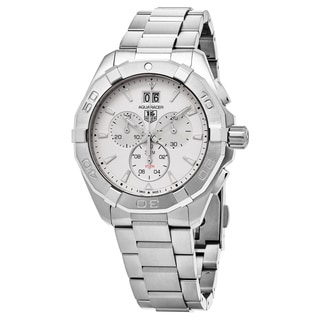 Tag Heuer Men's CAY1111.BA0927 '300 Aquaracer' Silver Dial Stainless Steel Chronograph Swiss Automatic Watch