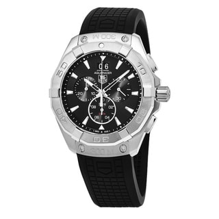 Tag Heuer Men's CAY1110.FT6041 '300 Aquaracer' Black Dial Black Rubber Strap Chronograph Swiss Quartz Watch