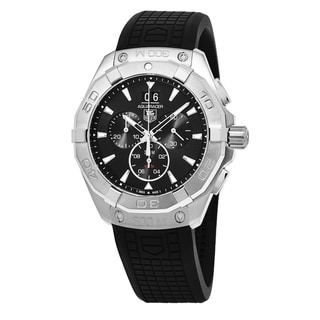 Link to Tag Heuer Men's CAY1110.FT6041 '300 Aquaracer' Black Dial Black Rubber Strap Chronograph Swiss Quartz Watch Similar Items in Men's Watches
