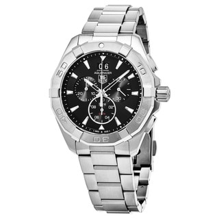 Tag Heuer Men's CAY1110.BA0927 '300 Aquaracer' Black Dial Stainless Steel Chronograph Swiss Automatic Watch