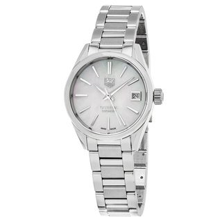Tag Heuer Women's 'Carrera' Mother of Pearl Dial Stainless Steel Swiss Automatic Watch