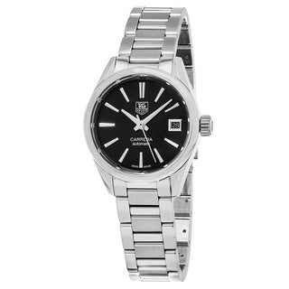 Tag Heuer Women's WAR2410.BA0776 'Carrera' Black Dial Stainless Steel Swiss Automatic Watch