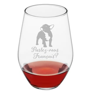 Parlez-vous Francais Stemless Wine Glass (Set of 4)