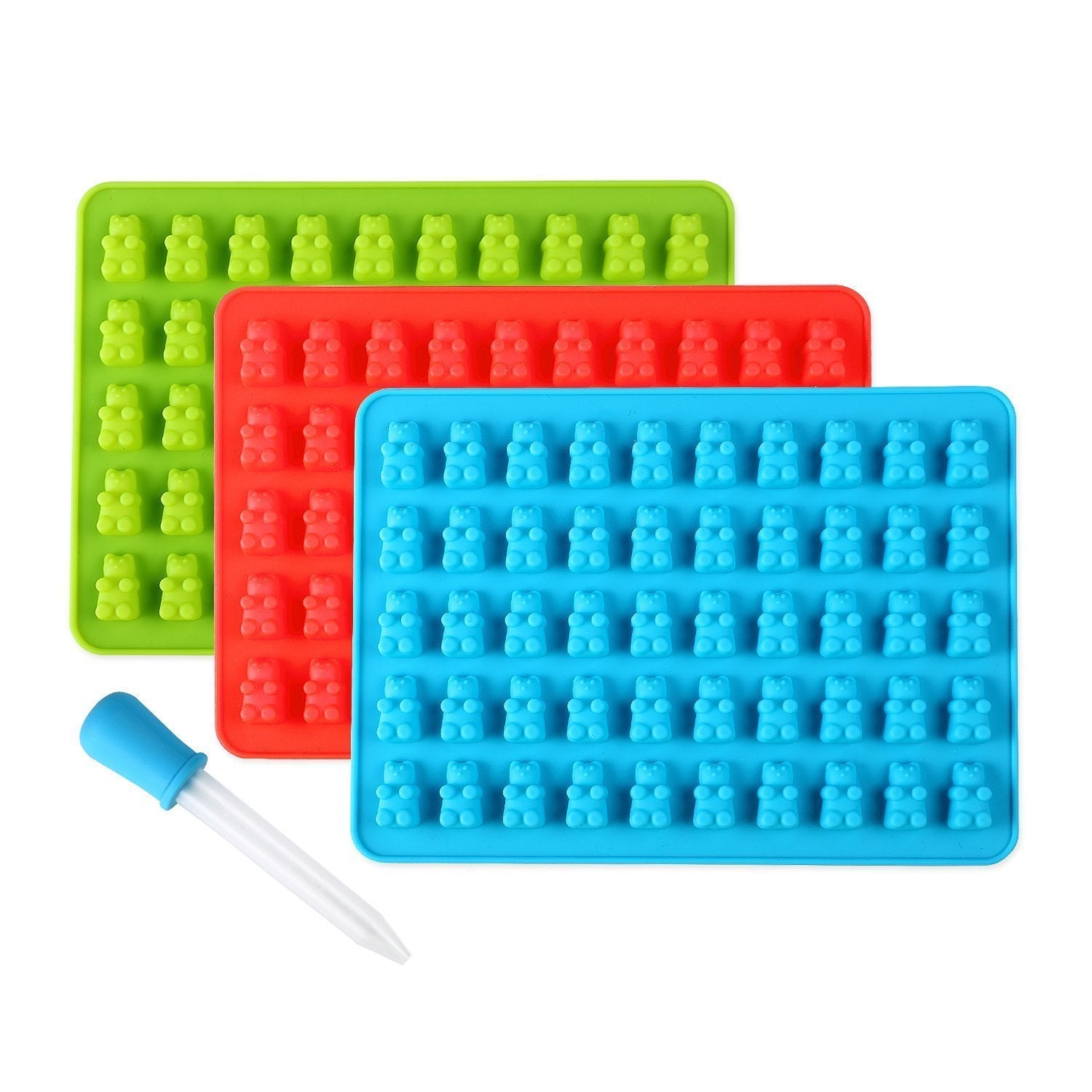 Born Baker Silicone Gummy Bear Molds with Dropper (Pack o...