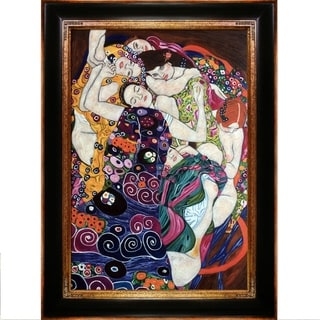 Gustav Klimt 'The Virgin' Hand Painted Framed Canvas Art