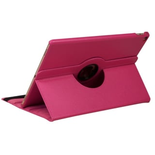 Insten Hot Pink Swivel Folio Flip Leather Case Cover with Stand For Apple iPad Pro 12.9-inch