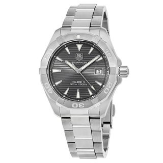 Tag Heuer Men's WAY2113.BA0928 '300 Aquaracer' Grey Dial Stainless Steel Swiss Automatic Watch