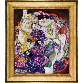 Gustav Klimt 'The Virgin' Luxury Line Hand Painted Framed Canvas Art