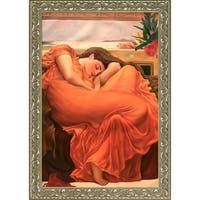 Frederic Leighton 'Flaming June' Hand Painted Framed Canvas Art