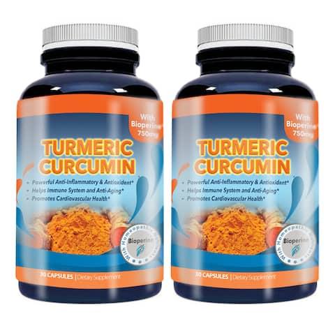 Turmeric Curcumin 750 mg with 95-percent Curcuminoids Extract plus Bioperine