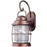 1-ight Large Copper Finish Wall Lantern