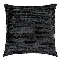 Rizzy Home Hand Applique Beads & Sequin 20-inch Decorative Throw Pillow
