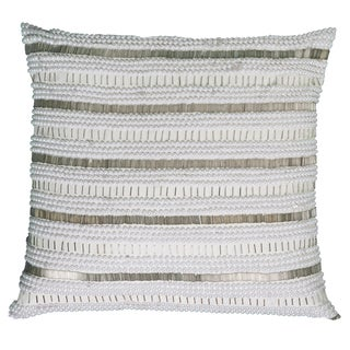 Rizzy Home Hand Applique Beads and Sequin 20-inch Decorative Throw Pillow