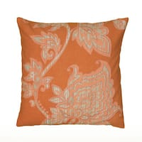Rizzy Home Floral Print 18-inch Decorative Throw Pillow