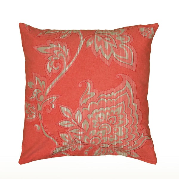 20 x 20 Blue//Red Rizzy Home Decorative Filled Pillow Mariah Parris by Turtle Cotton Decorative Pillow