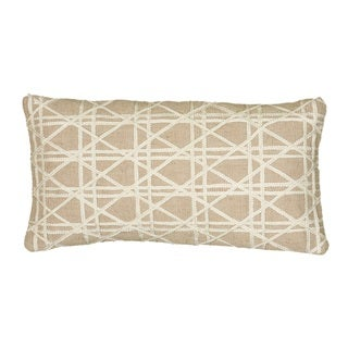 Rizzy Home 11-inch x 21-inch Embroidered Geometric Decorative Throw Pillow