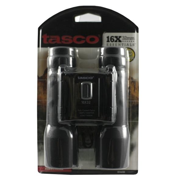 Tasco Essentials Black Aluminum/Glass 16-millimeter x 32-millimeter Roof Prism Binocular
