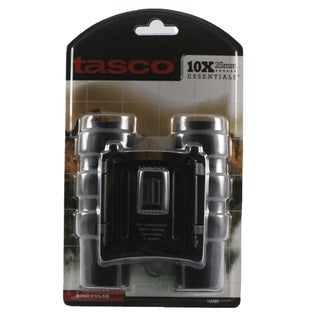 Tasco Essentials Black 10x25mm Roof Prism Binocular