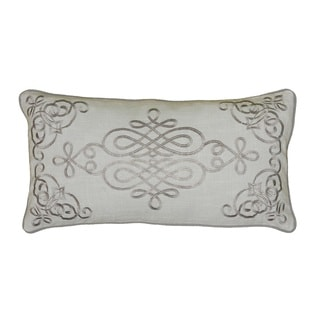 Rizzy Home 11-inch x 21-inch Embroidered Medallion Decorative Throw Pillow
