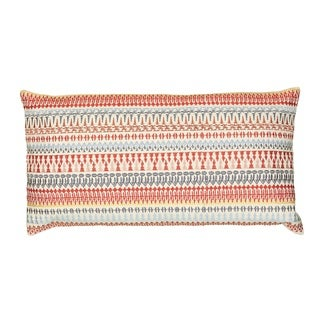 Rizzy Home Embroidered Multicolored Cotton Decorative Throw Pillow