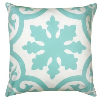 Rizzy Home Iron Gate Print Patterned 18-inch Decorative Throw Pillow