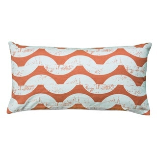Rizzy Home 11-inch x 21-inch Wave Pattern Decorative Throw Pillow