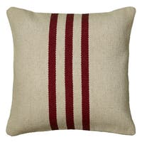 Rizzy Home Red Polyester/Wool/Cotton 18-inch x 18-inch Woven Southwest Patterned Decorative Throw Pillow