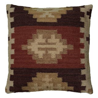 Rizzy Home Woven Southwest Patterned 18-inch Decorative Throw Pillow