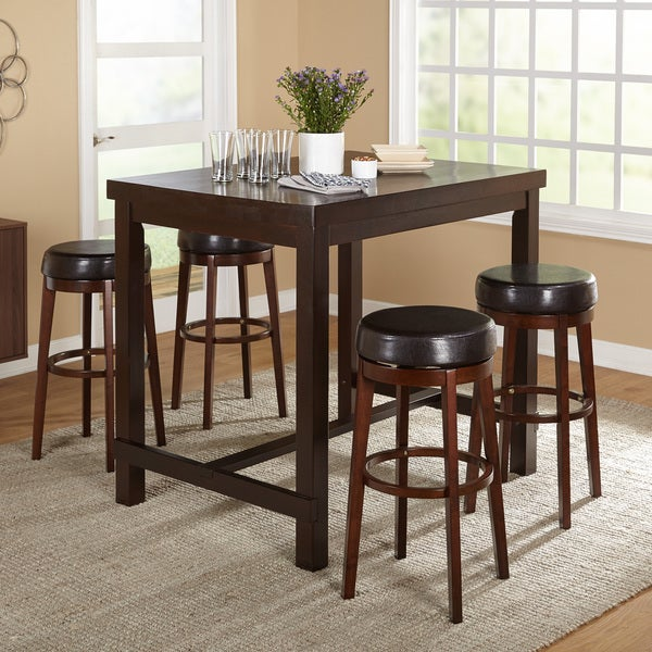 Simple Living Avenue Espresso Pub Table   Free Shipping Today    Overstock.com   18859546