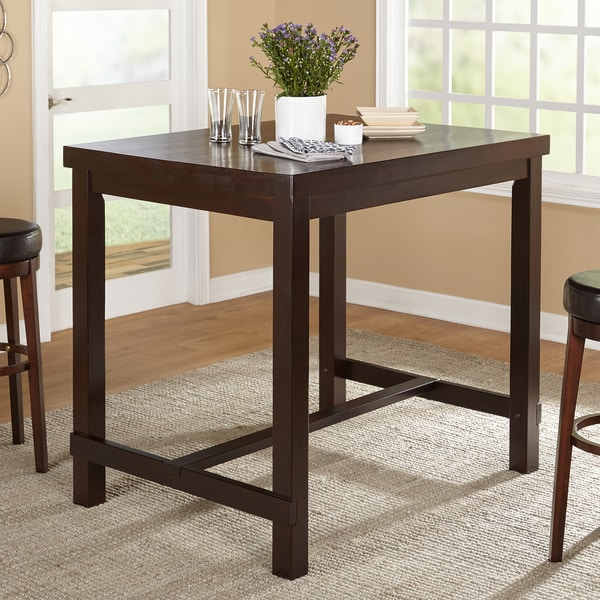 Simple Living Avenue Espresso Pub Table Free Shipping
