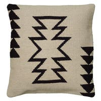 Rizzy Home Woven Southwest Patterned Wool and Cotton 18-inch Decorative Throw Pillow