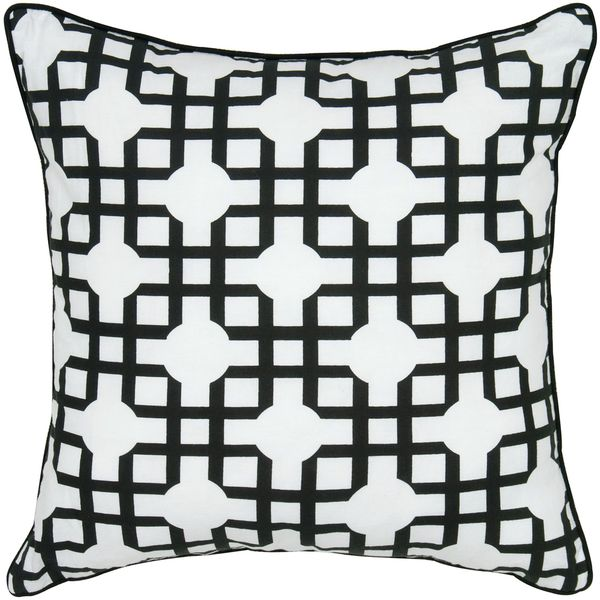 Rizzy Home Geometric Print Patterned 18-inch Decorative Throw Pillow