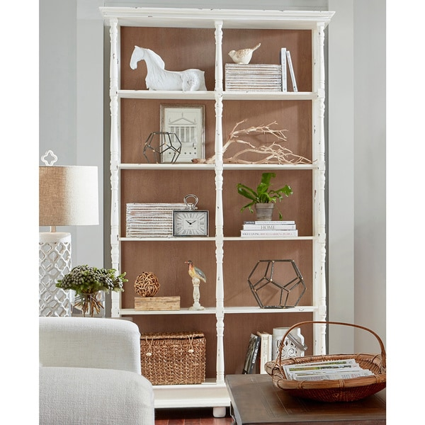 Shop Whitney Distressed White Bookcase