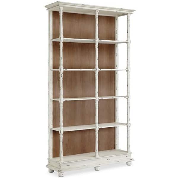 Whitney Distressed White Bookcase