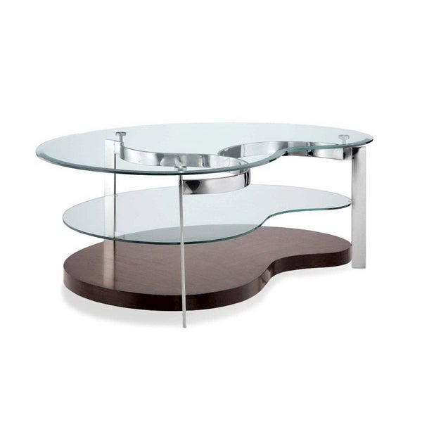 Abbyson Living Havana Round Leather Coffee Table Torino Kidney Cocktail Table - Free Shipping Today - Overstock.com ...